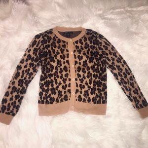 Gap Kids Brown Leopard Print Sweater Sz.S 6-7